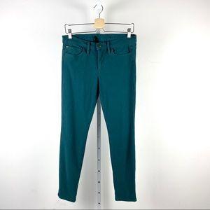 Joe's Jeans Skinny Ankle Jeans Teal Green 29